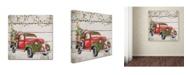 "Trademark Global Jean Plout 'Vintage Christmas Truck 2' Canvas Art - 35"" x 35"" x 2"""