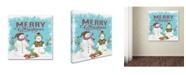 "Trademark Global Jean Plout 'Merry Christmas 1' Canvas Art - 24"" x 24"" x 2"""