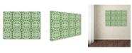 "Trademark Global Jean Plout 'Butterflies In The Garden 2' Canvas Art - 19"" x 14"" x 2"""
