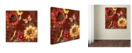 "Trademark Global Jean Plout 'Autumn Bouquet 5' Canvas Art - 14"" x 14"" x 2"""