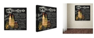 "Trademark Global Jean Plout 'Wine 2' Canvas Art - 35"" x 35"" x 2"""