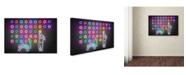 "Trademark Innovations Octavian Mielu 'Dots' Canvas Art - 24"" x 16"" x 2"""