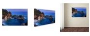 "Trademark Global Mike Jones Photo 'Big Sur McWay Falls' Canvas Art - 47"" x 30"" x 2"""