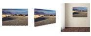 """Trademark Global Mike Jones Photo 'Death Valley Mesquite Dunes' Canvas Art - 47"""" x 30"""" x 2"""""""