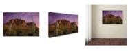"Trademark Global Mike Jones Photo 'Lost Dutchman Star Trails' Canvas Art - 47"" x 30"" x 2"""