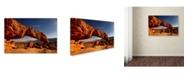 "Trademark Global Mike Jones Photo 'Utah Sunset Arch' Canvas Art - 32"" x 22"" x 2"""