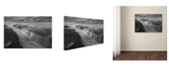 "Trademark Global Moises Levy 'Cortina de Agua BW' Canvas Art - 47"" x 30"" x 2"""