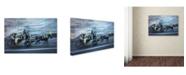 "Trademark Global Moises Levy 'Motion Horse 1' Canvas Art - 19"" x 12"" x 2"""