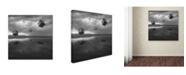 """Trademark Global Moises Levy 'Cubos Levitando 3 Flat' Canvas Art - 14"""" x 14"""" x 2"""""""