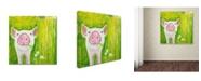 "Trademark Global Michelle Faber 'Pig' Canvas Art - 24"" x 24"" x 2"""