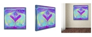 "Trademark Global Wyanne 'Boho Whales' Canvas Art - 14"" x 14"" x 2"""