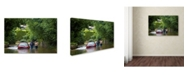 """Trademark Global Robert Harding Picture Library 'Red Car 1' Canvas Art - 47"""" x 30"""" x 2"""""""