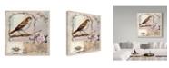 """Trademark Global Sher Sester 'Natural Bliss Birds Tan Blue' Canvas Art - 14"""" x 14"""" x 2"""""""