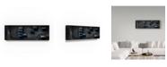 "Trademark Global Moises Levy 'Blue Industrial Scene' Canvas Art - 19"" x 6"" x 2"""
