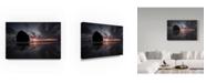 "Trademark Global Moises Levy 'Haystack Rock Sunset' Canvas Art - 32"" x 22"" x 2"""