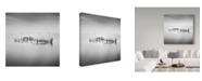 "Trademark Global Moises Levy 'Calm Water' Canvas Art - 18"" x 18"" x 2"""