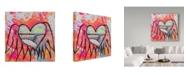 """Trademark Global Zwart 'Rock N Roll Heart Barrel' Canvas Art - 14"""" x 14"""" x 2"""""""