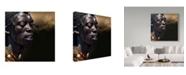 """Trademark Global Piet Flour 'Dancing Masai' Canvas Art - 14"""" x 2"""" x 14"""""""