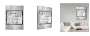 "Trademark Global lightbox Journal 'Bath Phrase' Canvas Art - 32"" x 24"" x 2"""