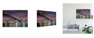 "Trademark Global Michael Zheng 'Brooklyn Bridge At Night' Canvas Art - 19"" x 2"" x 12"""
