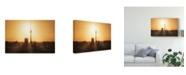 "Trademark Global Jean Claude Castor 'Berlin Skyline Sunrise' Canvas Art - 19"" x 2"" x 12"""