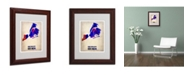 "Trademark Global Naxart 'New York City Watercolor Map' Matted Framed Art - 11"" x 14"" x 0.5"""