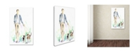 "Trademark Global Jennifer Lilya 'Dog Walking' Canvas Art - 22"" x 32"" x 2"""