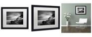 "Trademark Global Moises Levy 'Bass Harbor Lighthouse' Matted Framed Art - 16"" x 20"" x 0.5"""