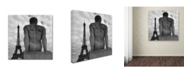 "Trademark Global Moises Levy 'Eiffel and Man' Canvas Art - 14"" x 14"" x 2"""