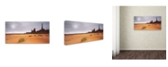 """Trademark Global Moises Levy 'Monument Valley Panorama I' Canvas Art - 32"""" x 16"""" x 2"""""""