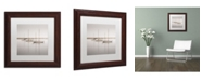 """Trademark Global Moises Levy 'Three Boats' Matted Framed Art - 11"""" x 11"""" x 0.5"""""""