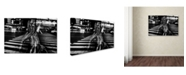 "Trademark Global Tatsuo Suzuki 'Girl With Cigarette' Canvas Art - 32"" x 22"" x 2"""