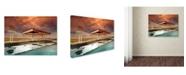 "Trademark Global David Senechal 'Gaz Bar Blues' Canvas Art - 47"" x 35"" x 2"""