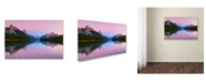 "Trademark Global Yan Zhang 'Maligne Lake' Canvas Art - 32"" x 22"" x 2"""