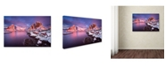 "Trademark Global David Martin Castan 'Fishing Village' Canvas Art - 32"" x 22"" x 2"""