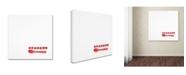 "Trademark Global Sarah Saratonina 'Seven Dots And One Spoon' Canvas Art - 14"" x 14"" x 2"""