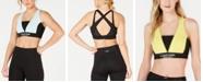 Calvin Klein Colorblocked Crisscross Back Low-Impact Sports Bra