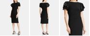 Lauren Ralph Lauren Flutter-Sleeve Cocktail Dress