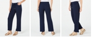 JM Collection Petite Textured Pull-On Pants, Created for Macy's