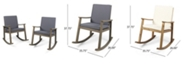Noble House Candel Outdoor Rocking Chair, Set of 2