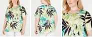 Alfred Dunner Plus Size Cayman Islands Printed T-Shirt