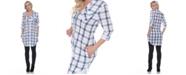 White Mark Women's Piper Stretchy Plaid Tunic
