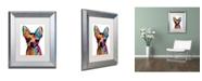 "Trademark Global Michael Tompsett 'Chihuahua Dog White' Matted Framed Art - 11"" x 14"""