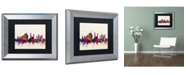 """Trademark Global Michael Tompsett 'Milan Italy Skyline' Matted Framed Art - 11"""" x 14"""""""