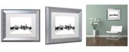 "Trademark Global Michael Tompsett 'Cincinnati Ohio Skyline B&W' Matted Framed Art - 11"" x 14"""