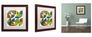 "Trademark Global Michelle Calkins 'Quarter Rounds 4.0' Matted Framed Art - 16"" x 16"""