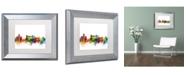 """Trademark Global Michael Tompsett 'Rome Italy Skyline White' Matted Framed Art - 11"""" x 14"""""""