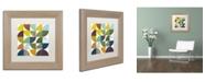 "Trademark Global Michelle Calkins 'Rustic Rounds 1.0' Matted Framed Art - 11"" x 11"""