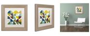 "Trademark Global Michelle Calkins 'Rustic Rounds 3.0' Matted Framed Art - 11"" x 11"""