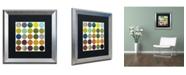 "Trademark Global Michelle Calkins 'Rustic Rounds 6.0' Matted Framed Art - 16"" x 16"""